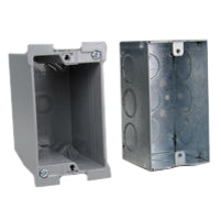 2X4 Wall Boxes Recessed Std American 2x4 Wall Box Examples. Use with 2x4 Mounting Frames.
