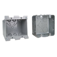 4X4 Wall Boxes Recessed Std American 4x4 Wall Box Examples. Use with 4x4 Mounting Frames.
