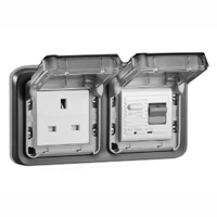 5023-10HP United Kingdom GFCI 10Ma Trip Panel or Flush Mount IP55