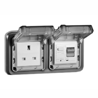 5023-30HP United Kingdom GFCI 30Ma Trip Panel or Flush Mount IP55
