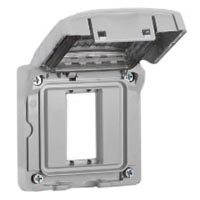 680611X45CV Weatherproof Cover Gray IP55 Rated Panel Mount Accepts 22.5mmx45mm Devices