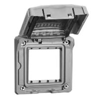 680612X45CV Weatherproof Cover Gray IP55 Rated Panel Mount Accepts 22.5x45mm & 45mmx45mm Devices