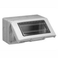 680614X45 Weatherproof Cover. Gray. IP55 Surface Mount. 22.5, 45 & 67.5x45mm Devices. 90x45mm Opening.