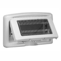 680635X45 Weatherproof Cover. Gray. IP55 Panel Mount. Accepts 22.5, 45 & 67.5x45mm Devices.