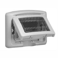 68063X45 Weatherproof Cover. Gray. IP55 Panel Mount. Accepts 22.5, 45 & 67.5x45mm Devices.