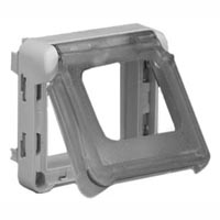 69580X45 Modular Support Frame Weatherproof Flip Lid IP55 Accepts 22.5 & 45x45mm Devices