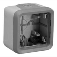 69651X45 Single Gang Surface Mount Box IP55 Entry Glands. Accepts 69580X45 or 69582X45