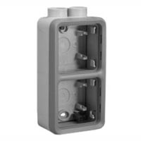 69668X45 Two Gang Vertical Surface Mount Box IP55, M20 Hub Entries. Accepts Frames 69580X45, 69582X45