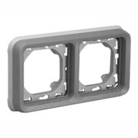 69383X45 Two Gang Horizontal Panel Mount Frame IP55. Accepts Frames 69580X45, 69582X45