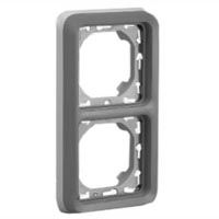 69685X45 Two Gang Vertical Panel Mount Frame IP55. Accepts Frames 69580X45, 69582X45