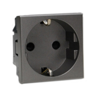 16 Amp 250V 70100x45-BLK European Schuko Outlet Receptacle