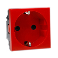 16 Amp 250V 70100x45-RED European Schuko Outlet Receptacle