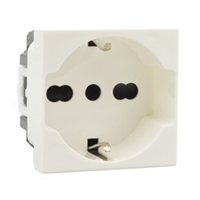 10/16 Amp 250V 70100x45-IT European CEE 7/3 Schuko/Italian Outlet Receptacle