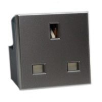 13 Amp 250V 72100X45-BLK United Kingdom BS1363A Outlet Receptacle