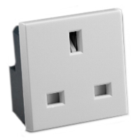 13 Amp 250V 72100X45 United Kingdom BS1363A Outlet Receptacle