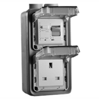 72325-10VH United Kingdom GFCI 10Ma Trip Vertical Hub Surface Mount IP55