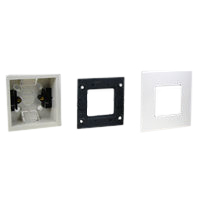 Single-Gang Plastic Recess Mount Box, Frame and Finish Plate<br> <b>72350-F<br> 79250X45-N<br> 79265X45-N<br></b>