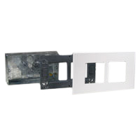 72355 79270X45-N 79255X45-N Flush Mount Metal Box, Frame, Plate. Two Openings 45x45mm Size.