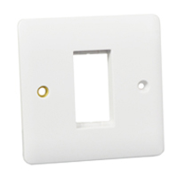 Wall Plate / Mounting Frame. Opening Size 22.5x45mm.
