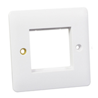 Wall Plate / Mounting Frame. Opening Size 45x45mm.