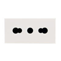 10A-250V & 16A-250V 75500x45 Italy & Chile Multi-Outlet Receptacle CEI 16/VII