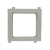 79100X45-ALU Snap-In Panel Mount Frame. Silver / Aluminum. Accepts 22.5x45mm & 45x45mm Devices.