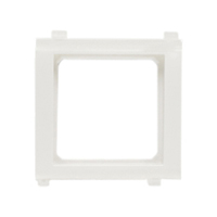 79100X45 Snap-In Panel Mount Frame. White. Accepts 22.5x45mm & 45x45mm Devices.