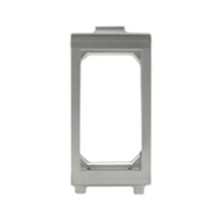 79110X45-ALU Snap-In Panel Mount Frame. Silver / Aluminum. Accepts 22.5x45mm Devices.