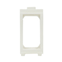 79110X45 Snap-In Panel Mount Frame White Accepts 22.5x45mm Devices
