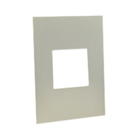 79130X45-ALU Finish Plate. Aluminum. Fits 79120X45-N Mounting Frame. Opening Size 45x45mm.