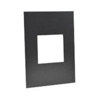 79130X45-BLK Finish Plate. Black. Fits 79120X45-N Mounting Frame. Opening Size 45x45mm.