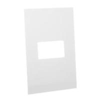 79140X45-N Finish Plate. White. Fits 79170X45-N Mounting Frame. Opening Size 22.5x45mm.