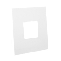 79215X45-N Finish Plate. White. Fits 79210X45-N Mounting Frame. Opening Size 45x45mm.