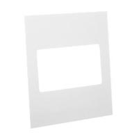 79220X45-N Finish Plate. White. Fits 79210X45-N Mounting Frame. Opening Size 90x45mm.