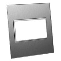 79225X45-N 45X45 Two Outlet Brushed Stainless Steel Finish Plate
