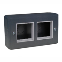 79230x45 45X45 Two Outlets Metal Surface Box