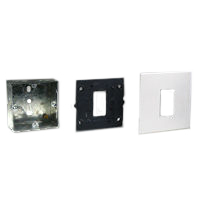 72350 79250X45-N 79266X45-N Flush Mount Metal Box, Frame & Plate. 22.5x45mm Opening.