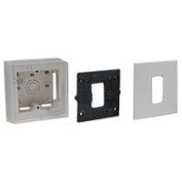 79260X45-N 79250X45-N 79266X45-N Surface Mount Plastic Box, Frame & Plate. 22.5x45mm Opening.