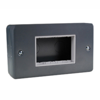 79280X45 Surface Mount Metal Box. Gray. Accepts 22.5mm, 45mm & 67.5mmx45mm Devices.