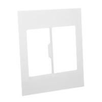 79285X45-N Finish Plate. White. Fits 79275X45-N Mounting Frame. Opening Sizes Two 67.5x45mm.