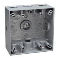 79430 Surface Mount Std USA 4x4 Wall Box. Cast Alum. 1/2 inch NPT entries. Use with 4x4 Mounting Frames.