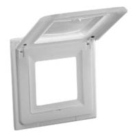 79570X45 Weatherproof Cover White IP44 Wall or Box Mount Accepts 22.5x45mm & 45x45mm Devices
