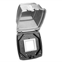 79575X45 Weatherproof Cover. Flush or Panel Mnt on USA 2 Gang Boxes. Accepts 22.5 & 45x45 Devices.