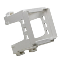 79595X45 Din Rail Mount Bracket. White. Accepts 22.5x45mm & 45x45mm Devices.