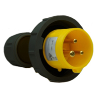 Pin and Sleeve Plug Devices 888-2156-NS IEC 60309 Cable Mount Plug, IP67 Rated, 20 Amp 120 Volt, 4H, IEC 309 International Pin and Sleeve Devices