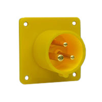 Pin and Sleeve Inlet Devices 888-6134-NS IEC 60309 Panel Mount Inlet Straight Type, IP44 Rated, 20 Amp 120 Volt, 4H, IEC 309 International Pin and Sleeve Devices