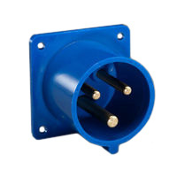 Pin and Sleeve Inlet Devices 888-6136-NS IEC 60309 Panel Mount Inlet Straight Type, IP44 Rated, 20A 250V, 16A 220-250V, 6H, IEC 309 International Pin and Sleeve Devices