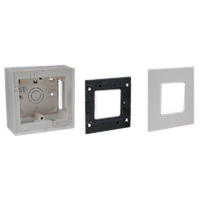 79260X45-N 79250X45-N 79265X45-N Surface Mount Plastic Box, Frame & Plate. 45x45mm Opening.